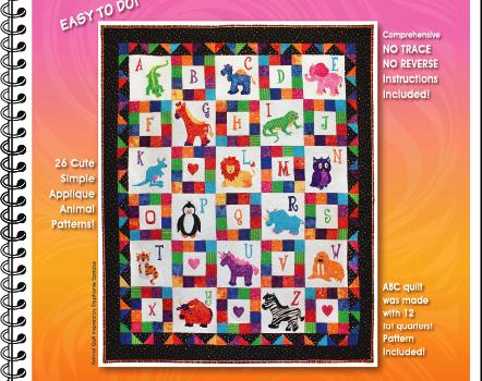 Applique Animals A-Z: Easy Appliqué Animal Quilt Patterns